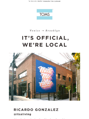 TOMS Brooklyn is now open