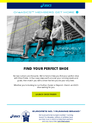 ASICS (UK) - Meet your match - with ASICS Shoe Finder