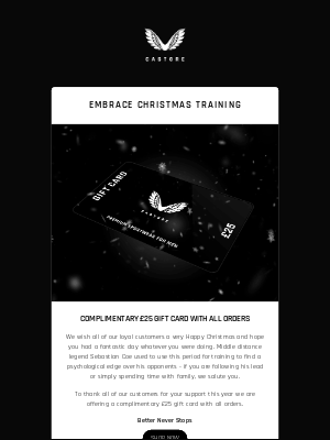 Embrace Christmas Training | Complimentary £25 Gift Card With Every Order