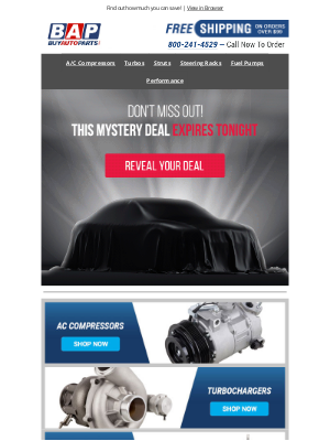 Buy Auto Parts - FWD: Redeem Your Mystery Savings 👍🏻
