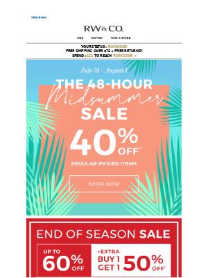 40%. 48 HOURS. GO!
