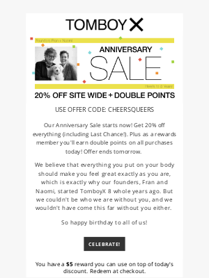 TomboyX - It's Our Anniversary Sale