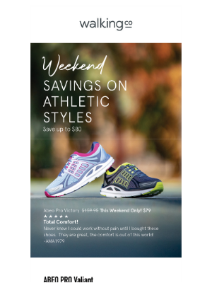The Walking Company - SAVE $80 on Athletic Styles 👟