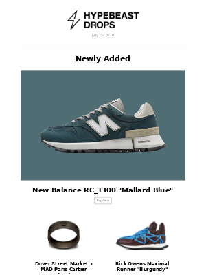 "Drops On Your Radar this Week - New Balance RC_1300 ""Mallard Blue"" and more"