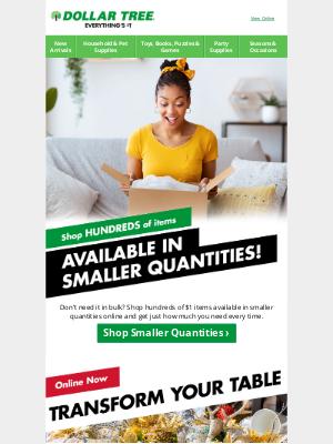 Dollar Tree - Shop Smaller Quantities Online!
