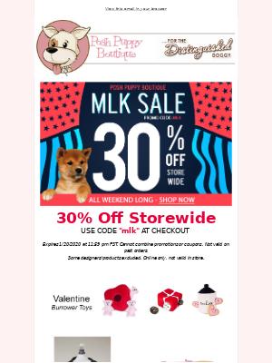 MLK Day! 4-Day Sale Extravaganza! 30% Off Storewide!