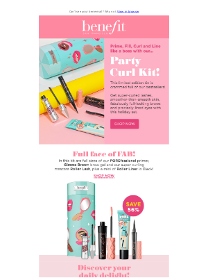Benefit Cosmetics (UK) - Can't be party girl? Why not be a party curl!