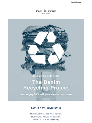 NYC: Recycle Old Denim + Get 20% Off