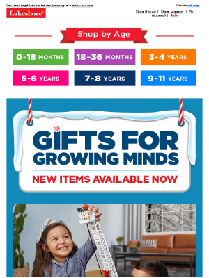 Lakeshore Learning - Exciting New Gifts Available Now + Save Up to $20!