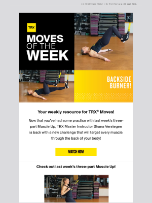 TRX Moves Of The Week: Challenge your backside!
