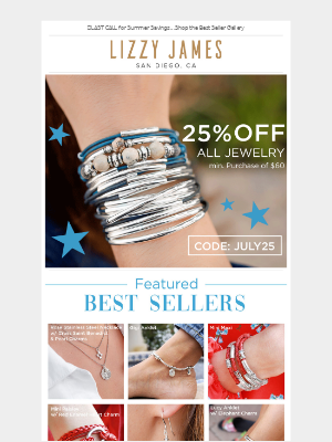 25% Off Sale Extended til Midnight...⏳ All Jewelry Collections!