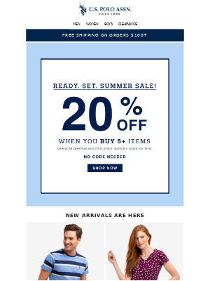 Ready. Set. Summer (SALE)  -Buy 5+ items, Get 20% off