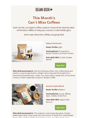 BeanBox - Discover hidden gems and perfect pairings for your morning mug