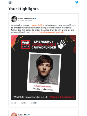 Twitter - Louis Tomlinson Tweeted: Im proud to support @WarChildUK in helping ...
