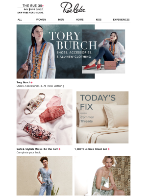 Rue La La - New to Rue! Tory Burch Clothing & More • Up to 75% Off ViX & More