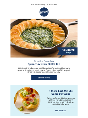 Pillsbury - 10-Minute Prep Spinach Dip + More Game Day Apps
