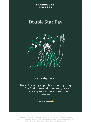 Double Star Day is Wednesday