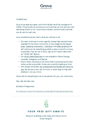 Grove Collaborative - An important update for our Grove Community