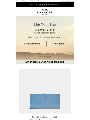 30% Off Things That Match