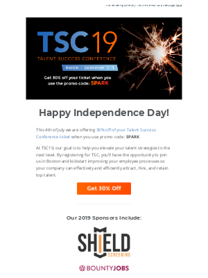 Spark Your Talent Strategy at TSC with 30% Off 🎆