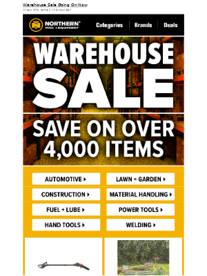 Warehouse Sale: Save Big On Top Categories!