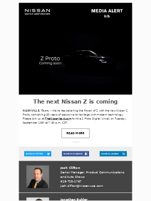 Nissan - The next Nissan Z is coming