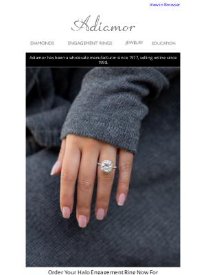 Adiamor - Get Your Ring In Time For Your Halloween Proposal!