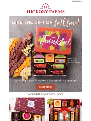 Hickory Farms - Now arriving: The best fall flavors