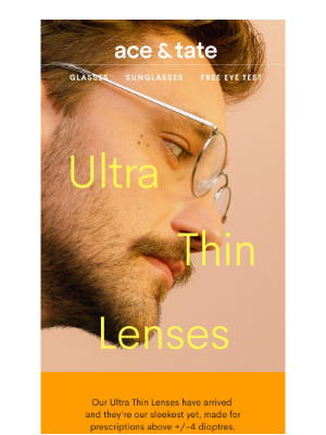 Ace & Tate (UK) - ultra thin lenses for Neil