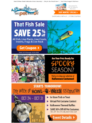 That Pet Place - Hurry! That Fish Sale COUPON Ends Sunday!