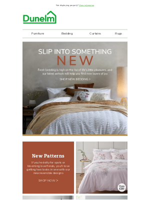 New Bedding: Get it online first (not yet in-store!)