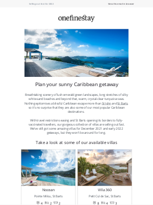 onefinestay - Limited availability for our Caribbean villas, book now.