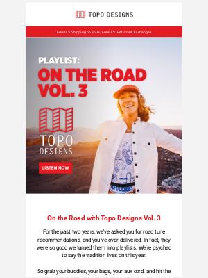 Topo Designs - Playlist: On the Road with Topo Designs Vol. 3