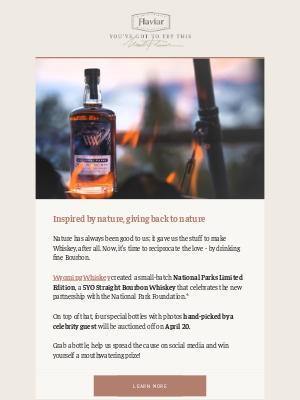 Flaviar - Meet Wyoming Whiskey National Parks Limited Edition!