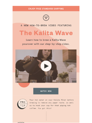 Verve Coffee Roasters - How To Brew At Home: Kalita Wave