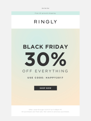 RINGLY - Our Black Friday Sale Is On!