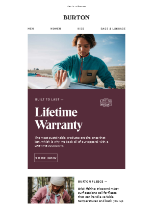 Stay Out There with Gear Backed by a LIFETIME WARRANTY