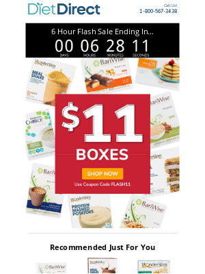 Diet Direct - Beat The Clock ⏰ - 6 Hour $11 Box Sale Starts Now