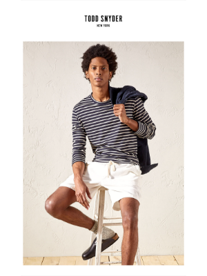 Todd Snyder - Just In Our Japanese Nautical Stripe Tees.
