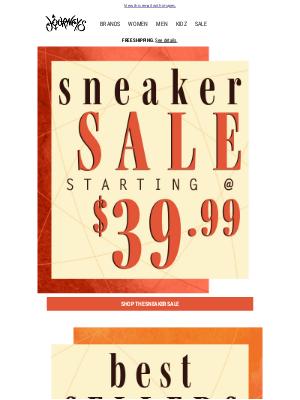 Journeys -  It's a SNEAKER SALE 👟 & it starts at $39.99