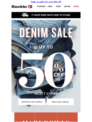 New MARKDOWNS on JEANS!