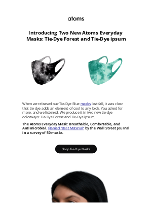 Atoms - Introducing Two New Tie-Dye Masks!