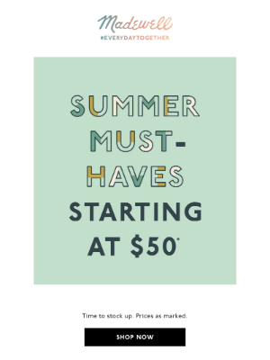 A sale to get your summer wardrobe started