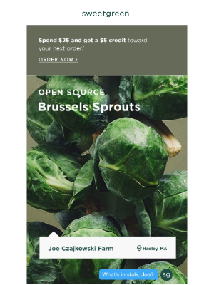 sweetgreen - open source: brussels sprouts edition