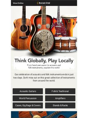 Music is an international language: Explore folk instruments & more