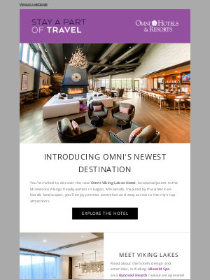 Omni Hotels & Resorts - Now Open: Omni Viking Lakes Hotel