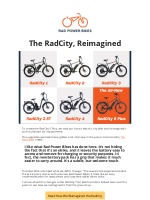 Rad Power Bikes - The reimagined RadCity 5 Plus is in stock