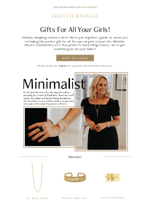 Judith Bright Jewelry - OMG! Our Holiday Gift Guide is Here! 🎁