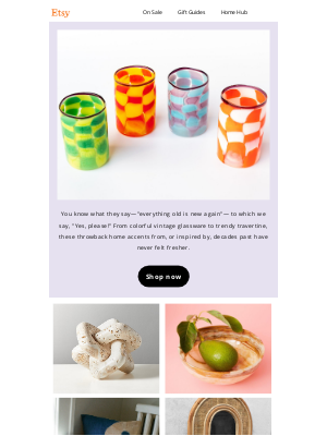 Etsy - Guess what's back in style?