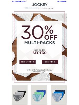 Jockey - 30% OFF multi-packs inside